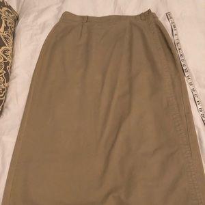 Gap khaki wrap around skirt